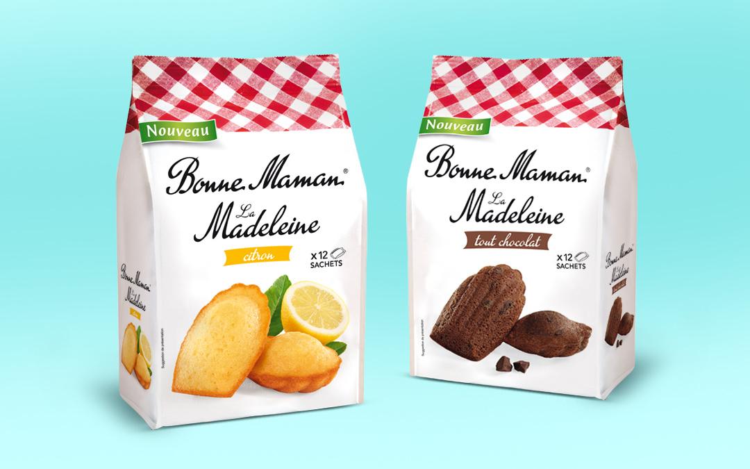 Bonne Maman pâtisserie agence Kubilaï Tours design packaging innovations madeleines Bonne Maman