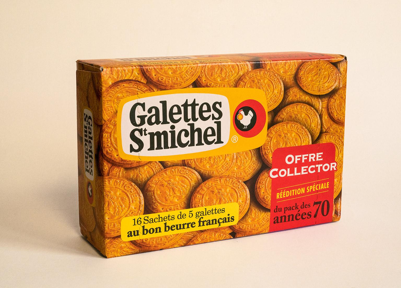Galettes st Michel biscuiterie agence kubilai design packaging vintage